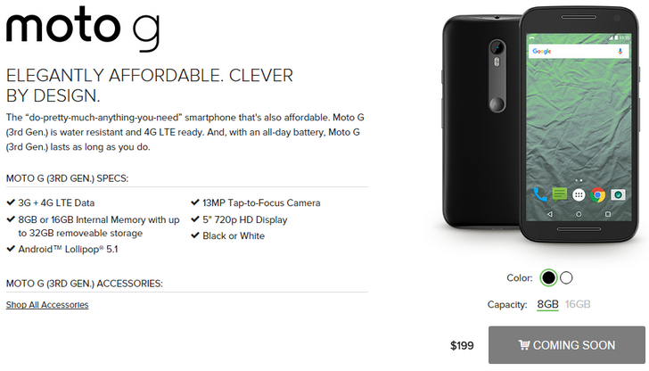 Republic Wireless Launching 3rd Gen Moto G On October 27th For $199 (8GB) Or $229 (16GB) [Update]