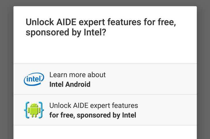 AIDE Gets Android 6.0 Support In Version 3.2, And Intel Is Sponsoring Full Premium Keys Worth $10 For A Limited Time