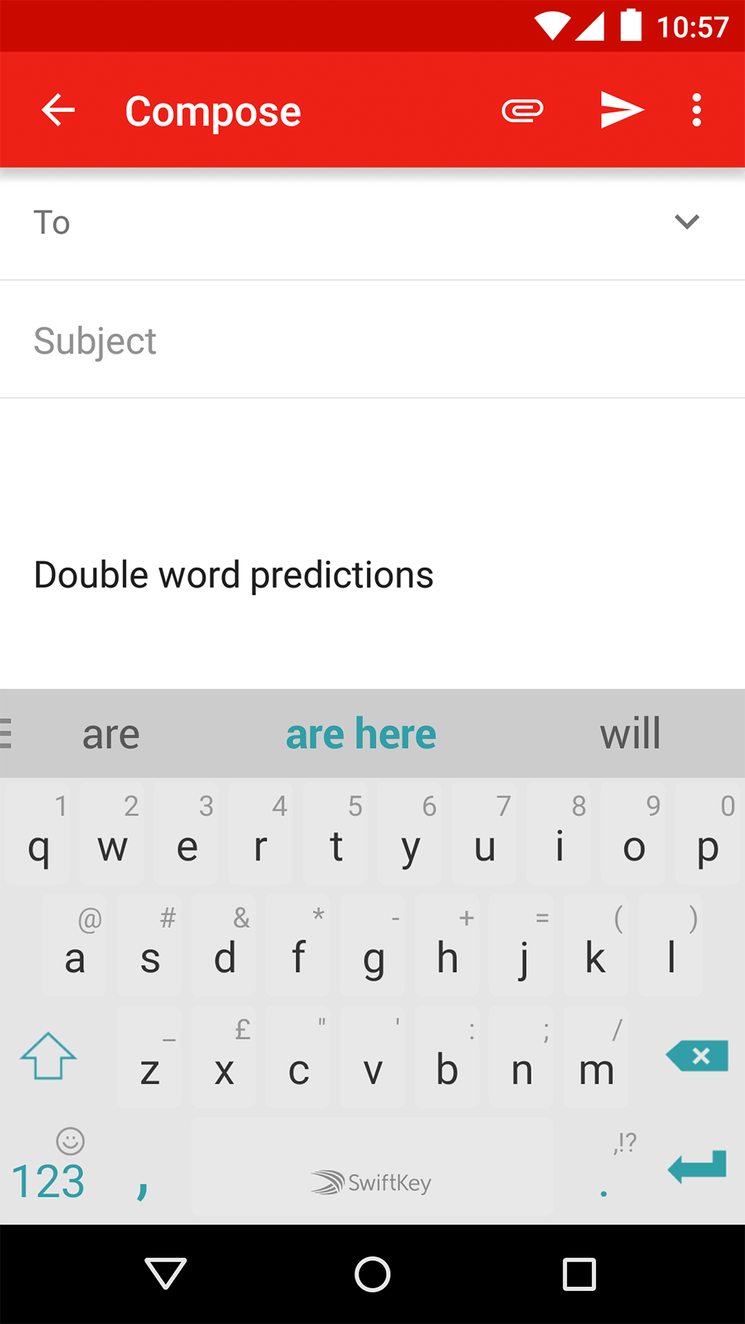Double-word-predictions