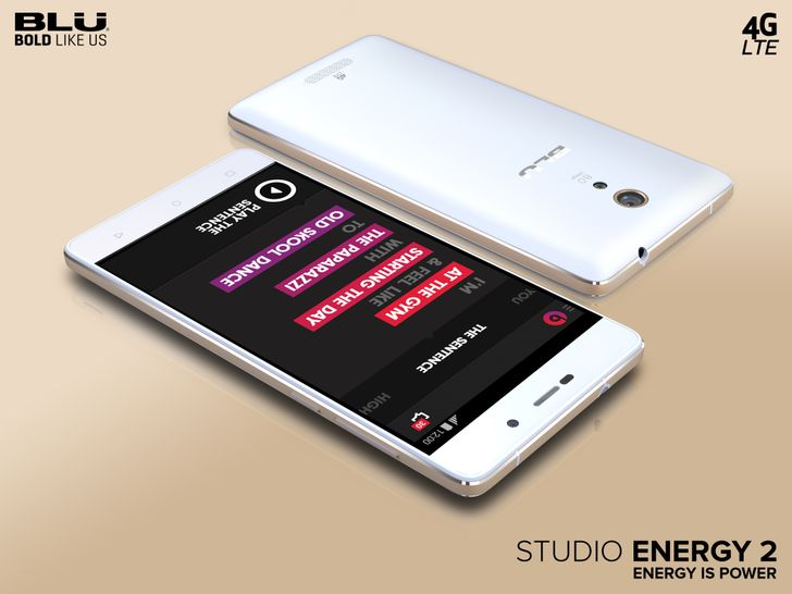 Blu Announces Two New Phones In The Energy Series: The 5,000mAh Studio Energy 2 And 4,000mAh Energy X