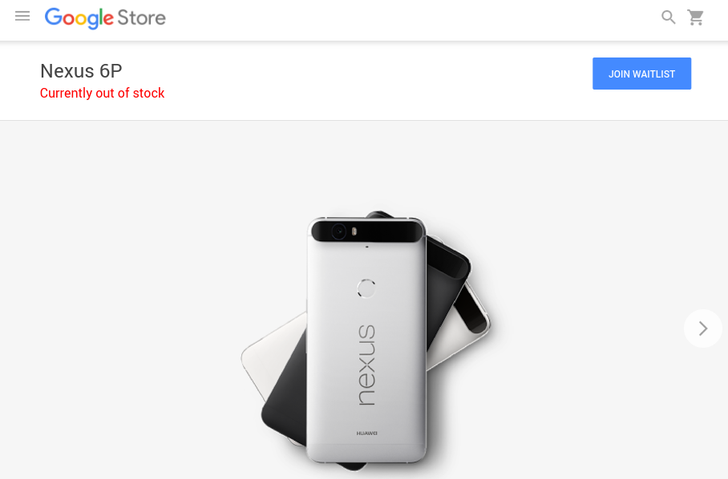 Nexus 6P Currently Sold Out In The US Google Store