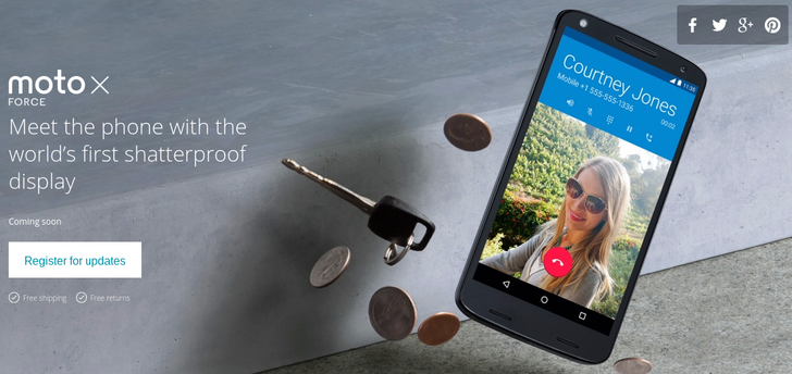 Motorola Announces The Moto X Force, Coming To Various International Markets Starting In November