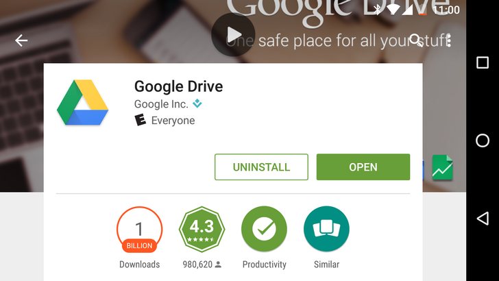 Google Drive Can Now Say It's Been Downloaded From The Play Store Over 1 Billion Times