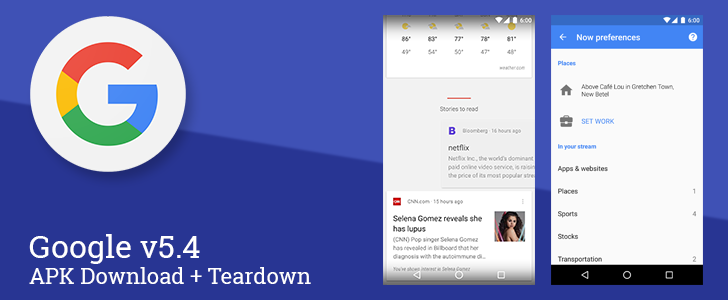Google App v5.4 Adds An Easier Way To Set Home And Work Locations, Fixes The Card Swipe Animation, And Points To A New Wear App [APK Download + Teardown]