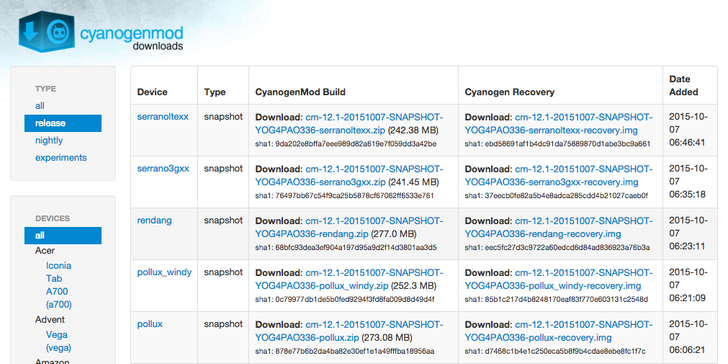 New CyanogenMod 12.1 Snapshot Starts Rolling Out With AOSP's October Security Updates