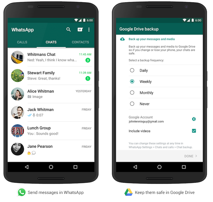 WhatsApp's Google Drive Backup Finally Becomes Official [APK Download]