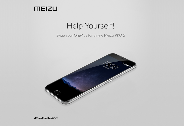 [Heated Fight] After OnePlus' Jab At Samsung, Meizu Copies A Page From The Same Book And Offers To Swap A OnePlus 2 For A Free Meizu Pro 5