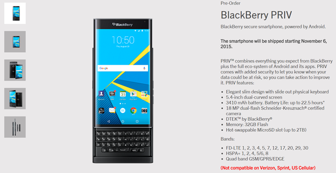 After A False Start, Blackberry Is Now Taking Pre-Orders For The Android-Powered Priv For $699