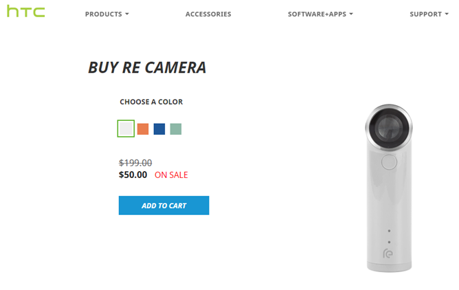 [Deal Alert] HTC Re Camera Fire Sale: Pick One Up For Just $50 ($150 Off Original Price)