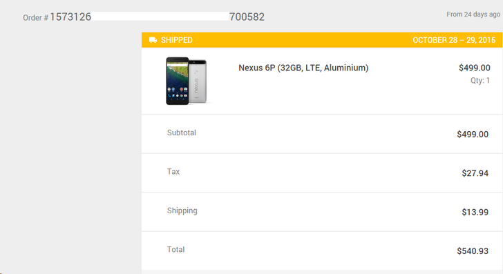 Google Has Started Shipping Some Nexus 6P Orders