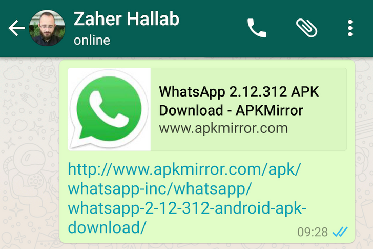 WhatsApp 2.12.312 Starts Showing Rich Previews For Shared URLs