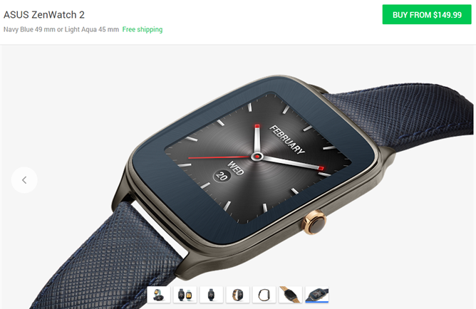 The Asus ZenWatch 2 Is Now Available From The Google Store In The US For $150