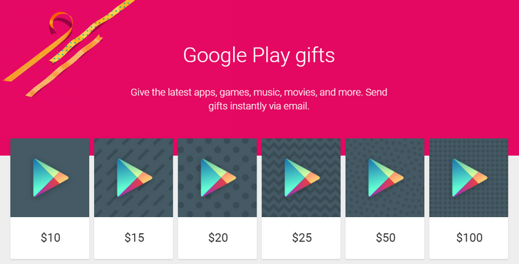 You Can Now Send Google Play Credit Gifts Via Email In The US