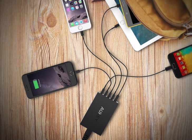 [Deal Alert] Aukey 5 Port 50W/10A Wall Charger + 5 MicroUSB Cables For Just $15 On Amazon