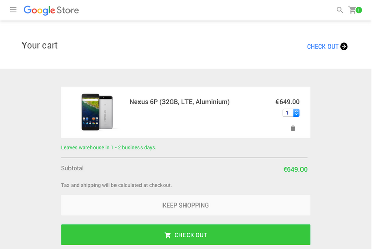[Update: 128GB Model Too] The Nexus 6P Is Finally In Stock In Europe