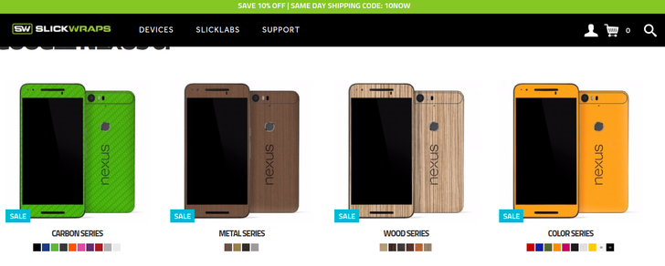 Slickwraps Is Now Offering Skins For The Nexus 5X And 6P, Also Throwing In Free Stickers