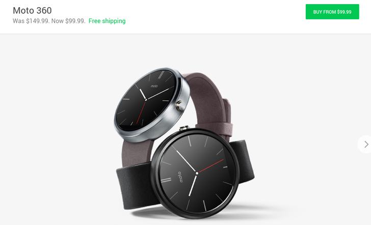 1st Gen Moto 360 Is Now Only $99.99 In The Google Store Following Another Price Drop