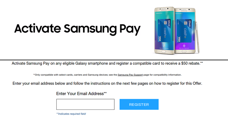 Samsung Will Now Give A $50 Rebate To People Who Activate Samsung Pay, Instead Of A Wireless Charger