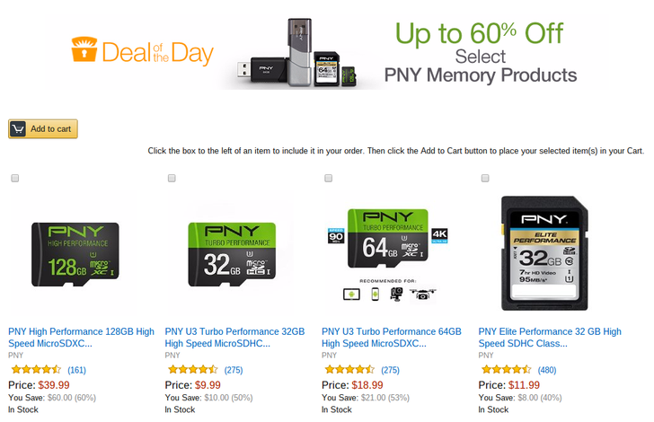 [Deal Alert] PNY Flash Memory On Sale Today At Amazon, 128GB MicroSD Card Only $40