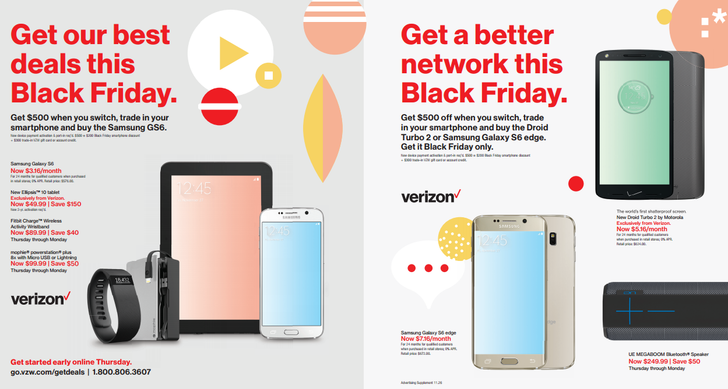 Verizon Will Offer $200 To Switch And Buy Certain Phones, $100 Off Select Devices, The Parrot AR Drone 2.0 Elite For $250, And Various Discounted Accessories This Black Friday