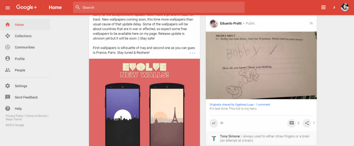 [Update: How To Get It Now] Google Begins Rolling Out New Google+ Design With Big Focus On Communities And Collections