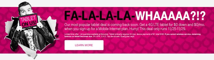 T-Mobile Is Giving Away Three Months Of Unlimited LTE To Postpaid Simple Choice Customers (After They've Depleted Their Data Stash), Has Other Black Friday Offers Up Its Sleeve