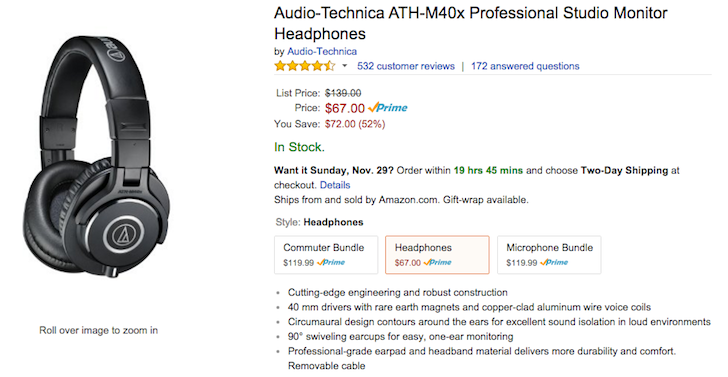 [Deal Alert] Audio Technica's ATH-M40X Hits All-Time $67 Low On Amazon, ATH-M50X Is $119 With $25 Gift Card On Adorama