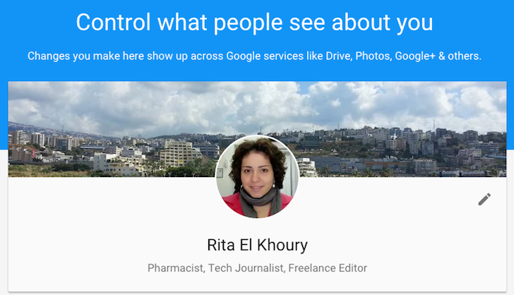 AboutMe Is A Central Page To Manage The Information Others See About You Across Google Services