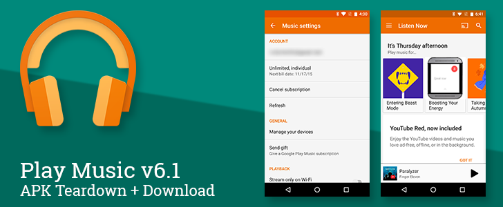Play Music v6.1 Adds Auto-Offline Music Caching, Prepares For Family Plans And Android Wear With Speakers [APK Teardown + Download]