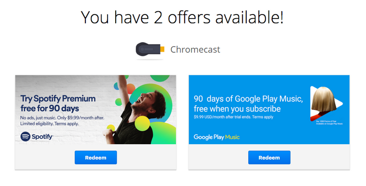 [Available All Around The World] You Can Now Redeem 3 Months Of Spotify Premium On All Chromecasts