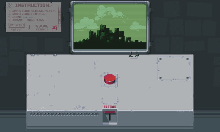 'Please, Don't Touch Anything' Is A Weird Puzzle Game About A Doomsday Machine And A Bathroom Break