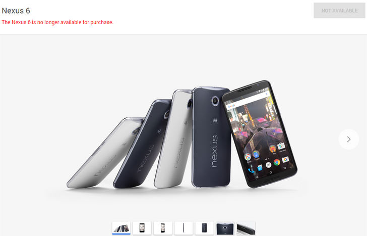 Google Has Stopped Selling The Nexus 6 In The Google Store