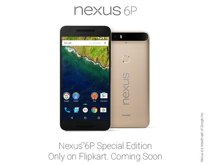 The Gold Nexus 6P, Exclusive To Japan At Launch, Is Coming To Indian Retailer Flipkart On December 21st