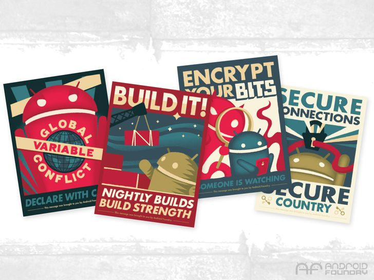 [Update: Winners] Win One Of Five Sets Of Andrew Bell's Newest Android Foundry Propaganda Posters