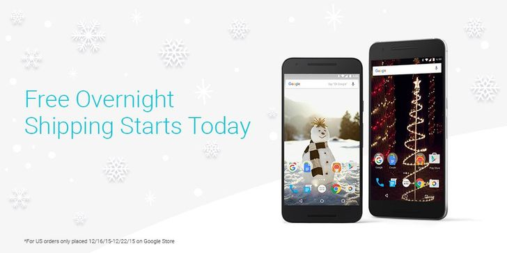 Google Is Offering Free Overnight Shipping On All US Google Store Orders Until December 22nd