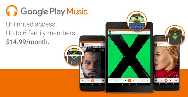 Google Play Music Family Plans Launch In The US, UK, Canada, And Three Other Countries — YouTube Red Included