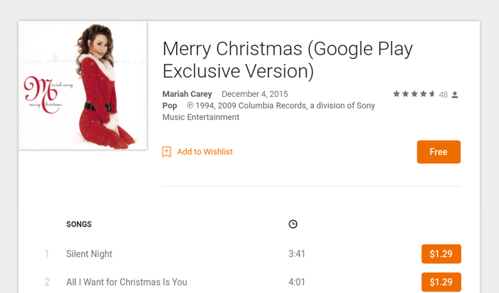 [Update: And Kelly Clarkson] Deal Alert: Celebrate Christmas With Two Free Albums By Mariah Carey And Blake Shelton From Google Play