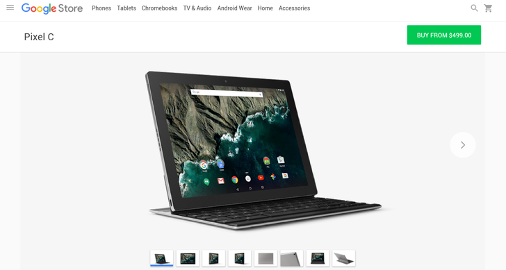 Pixel C Enters The Google Store Starting At $499.99, Magnetic And Folio Keyboard Options Also Available