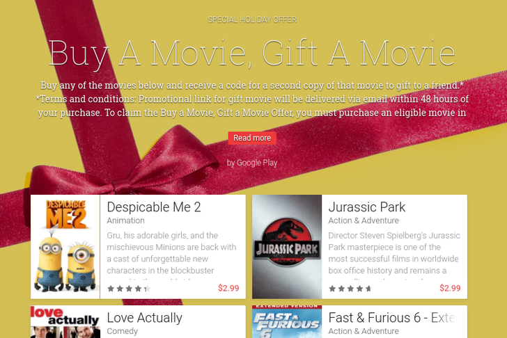 [Deal Alert] Buy One Of These 8 Movies From Google Play In The US And Give Away Another Copy Free