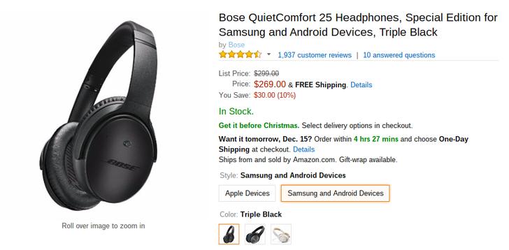[Deal Alert] Bose's QuietComfort 25 Headphones Are Down To $269.99 On Amazon ($30 Off)