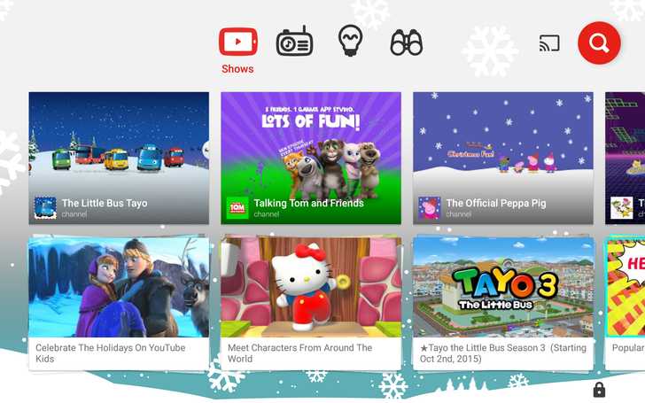 YouTube Kids 1.40 Gets A New Winter Theme, Lets You Cater The Homescreen To Younger Or Older Kids, And More [APK Download]