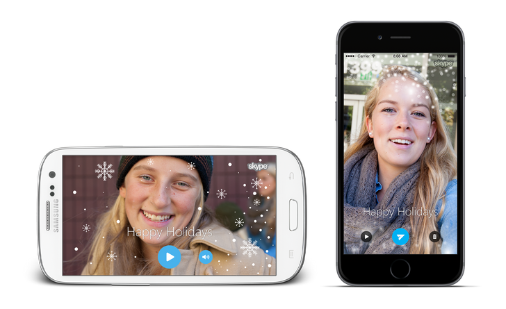 [Let It Snow] Skype App Gets Holiday-Themed Update With Video Cards And Christmas Emoji