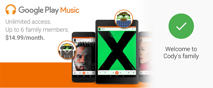 Hands-On With Google Play Music's Family Plan – Trusting Relatives With Shared Music And Shared Payment Methods