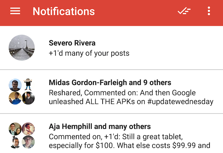 [Update: Full Changelog] Google+ 6.9 Introduces A Full Tab For Your Notifications [APK Download]