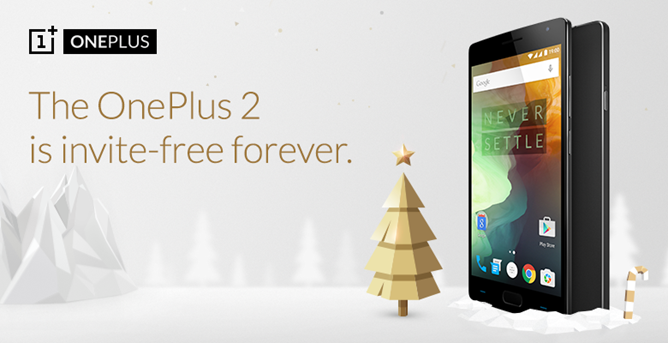 OnePlus Feels The Holiday Spirit And Makes The OnePlus 2 Available Without An Invite Starting On December 5th