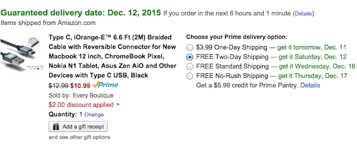 [Small Deal Alert] Spec-Compliant USB 2.0 Type-C iOrange-E Cable $10.99 With Coupon On Amazon