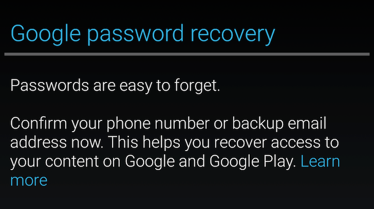 [HoloYolo4EVA] Bug Watch: Some Users Are Frequently Seeing This Password Recovery Prompt When Using The Play Store