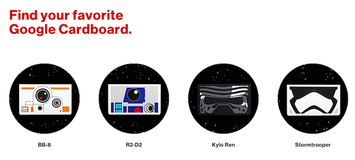 Verizon Is Giving Away Exclusive Star Wars Themed Google Cardboard Viewers To Customers In Its Stores