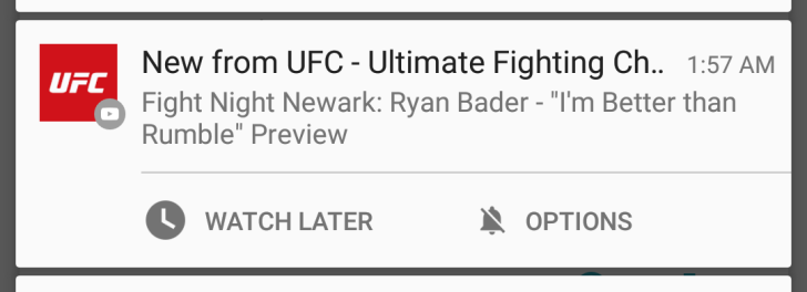 YouTube App Adds 'Watch Later' Action To 'New Upload' Notifications