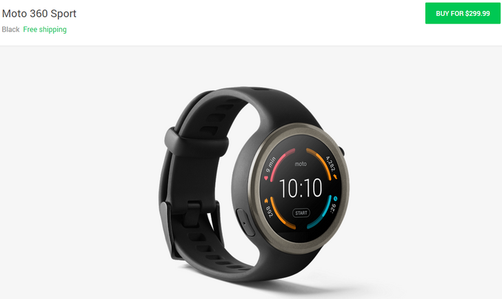 Moto 360 Sport Hits The Google Store In Canada And The US For $299.99
